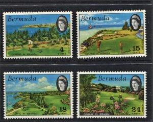 STAMP STATION PERTH Bermuda #284-287 Golfing MLH CV$7.40