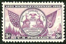 SCOTT # 775 SINGLE MICHIGAN MINT NEVER HINGED !! 1936