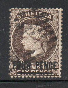 St Helena Sc 38 1888 4d overprint on 6d Victoria stamp used