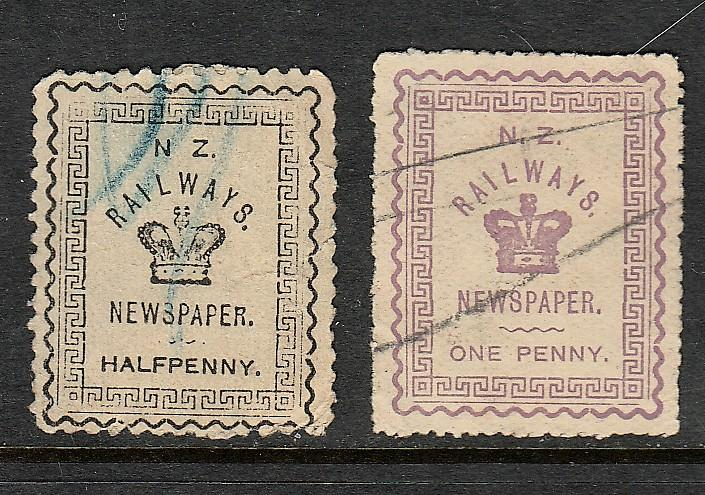 NEW ZEALAND Railways and Newspaper Stamps