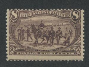 1898 US Stamp #289 8c Mint Never Hinged Average Catalogue Value $375