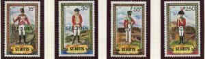 St Kitts - Scott 68-74 -Specimen-Military Uniforms -1983 - MNH - Set of 4 Stamps