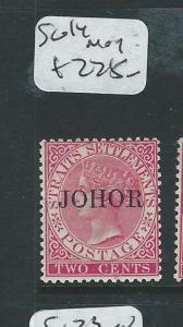 MALAYA JOHORE (PP2607B)  QV 2C  SG14  MOG