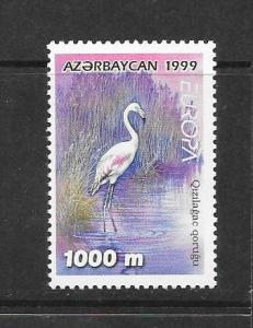 BIRDS - AZERBAIJAN ROSE FLAMINGO #686  MNH