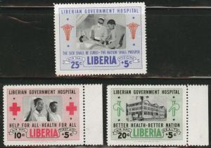 LIBERIA Scott CB4-6 MNH** 1954 nurse set