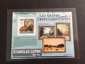 Unión Des Comores Impressionists  Mint Never Hinged Imperf Stamp  Sheet R38708