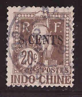 French Indo-China Scott J23 Used 1908 Angkor Wat Postage due