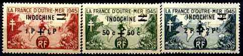 French IndoChina - Sc# B32-34 MH