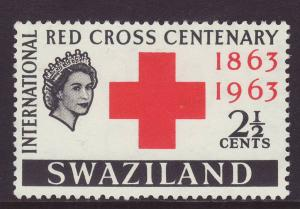 1963 Swaziland 2½c Red Cross Mint