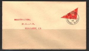 Great Britain Sc#255 Bisect Used on Cover in Guernsey