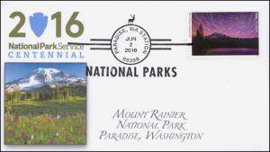2016, National Parks, Centennial, Mount Rainier NP BW, Paradise WA, 16-172