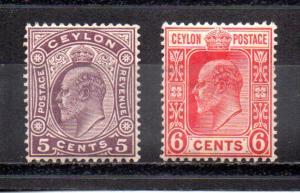 Ceylon 189-190 MH