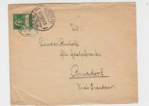 Switzerland 1922 St. Gallen Double Cancels Stamps Wrapper to Arnsdorf Ref 25822