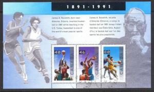 Canada Sc 1344 1991 Basketball stamp sheet used