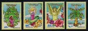 Tuvalu 653-6 MNh Christmas, Tree, Angel, Candles