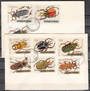 Burundi, Scott cat. C110-C118. Various Beetles issue on 2 First day covers.