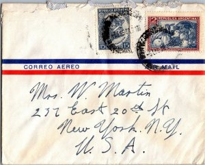 Argentina > NYC USA 1950 Air Mail cover American Republics Line