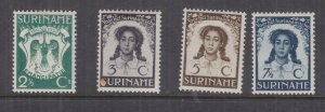 SURINAME, 1938 Liberation of Slaves set of 4, lhm.