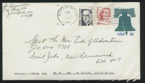 USA #U632   pus 2 stamps 1905 used PD