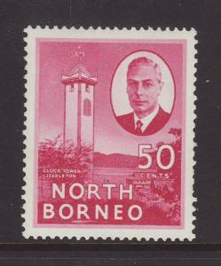 1950 North Borneo 50c Jessleton Mounted Mint SG366