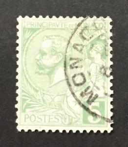 Monaco 1901  #14, Albert I, Used.