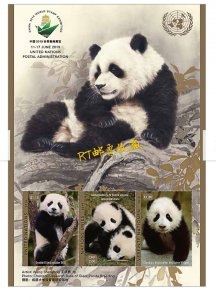 United Nations 2019 UN M/S World Stamp Exhibition Panda Animals China Wuhan City