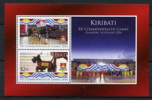 Kiribati Sports Stamps 2014 MNH XX Commonwealth Games Glasgow Dogs 2v M/S