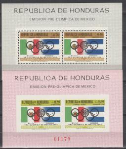 Honduras #C435z  MNH Perf & Imperf  CV $24.00 (K640)