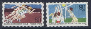 Germany Berlin 9NB191-2 MNH Sports, Athletics, Volleyball