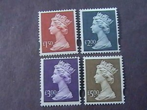 GREAT BRITAIN # MH280-MH283--MINT NEVER/HINGED---COMPLETE SET--MACHIN--1996-2010