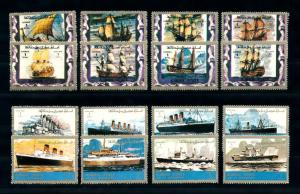 [93949] Ajman 1973 Ships Sailboats Steamers  MNH
