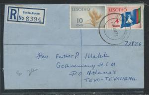 LESOTHO (1012B) 1972 REG FROM BUTHA-BUTHE TI TEYA-TEYANENG