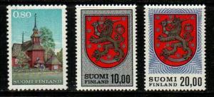 Finland Scott 463, 470, 470A Mint NH high values (CV $20.25)