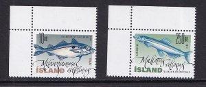 Iceland   #915-916   MNH  2000   fish type of 1998