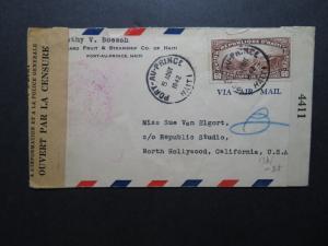 Haiti 1942 Censor Cover to USA  - Z11597