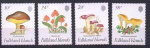 Falkland Islands Sc 469-72 1987 Mushrooms stamp set mint NH