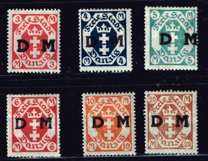 GERMANY STAMP DANZIG STAMPS COLLECTION LOT  #9
