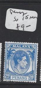 MALAYA PENANG  (PP2303B)  KGVI 20C   SG 15  MOG