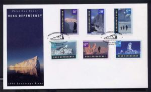 New Zealand FDC 1996 Ross dependence