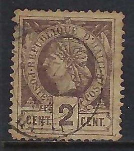 Haiti 8 USED THIN H1283