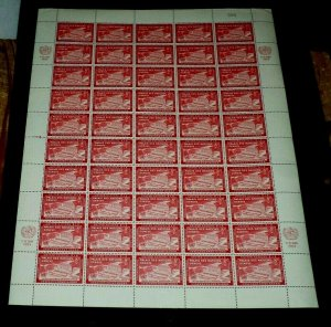 U.N. 1954, NEW YORK #28,  U.N. DAY, SHEET/50, MNH, CONTROL #085, NICE! LQQK!