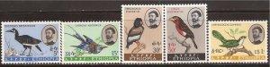 Ethiopia - 1962 Birds Hornbill Cuckoo Eagle - 5 Stamp Set - Scott #386-90