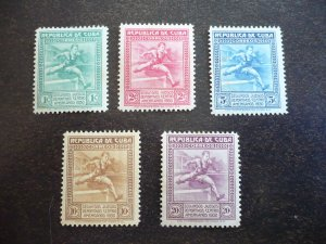 Stamps - Cuba - Scott# 299-303 - Mint Hinged Set of 5 Stamps