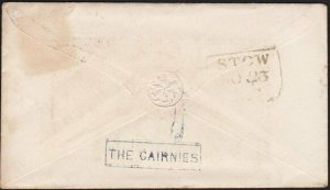 GB SCOTLAND 1854 THE CAIRNIES circular Scots local namestamp on cover......69217