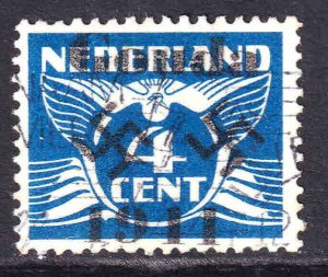 NETHERLANDS 146 GOUDA 1944 OVERPRINT CDS VF SOUND