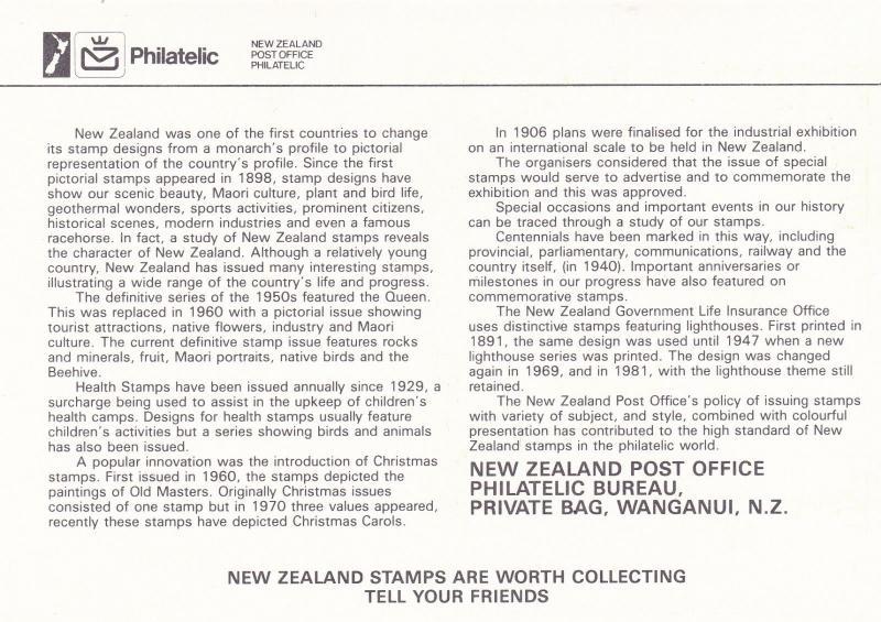 New Zealand 45c Elizabeth II Pictorial Date Stamp Air & Sea Postcard unused VGC