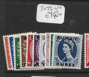 KUWAIT  (PP0705B)  ON GREAT BRITAIN  QEII SG 93-102  MOG