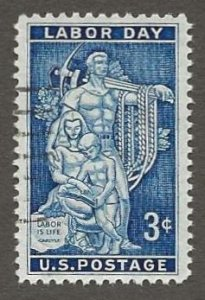 US#1082 1956 3c Labor Day, XF Used * #S16