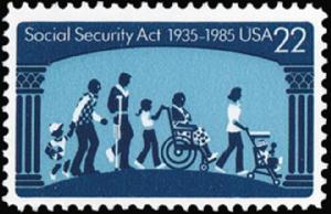 2153 Social Security Act F-VF MNH single