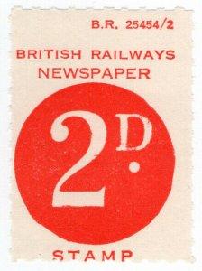 (I.B) British Railways Board : Newspaper Parcel 2d